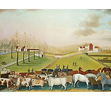 Edward Hicks - The Cornell Farm 1848. Hicks  Photographic Print