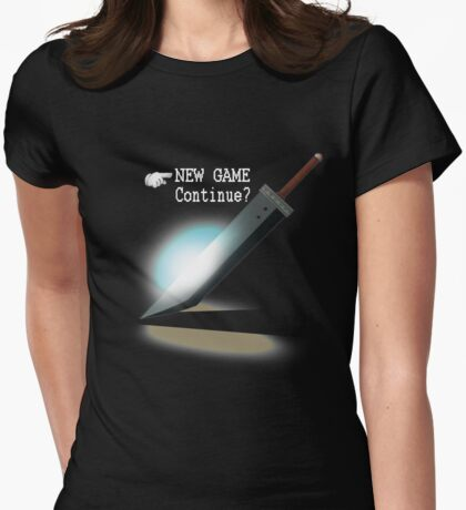 New Game / Continue? Womens Fitted T-Shirt