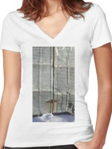 Alberta Shed Women's Fitted V-Neck T-Shirt