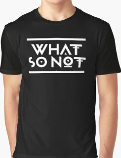 What so not - White Graphic T-Shirt