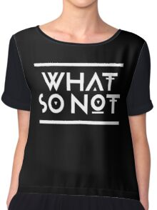 What so not - White Chiffon Top
