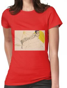Egon Schiele - Reclining Boy. Schiele, Reclining Boy Womens Fitted T-Shirt