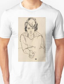 Egon Schiele - Seated Woman. Schiele - woman portrait. Unisex T-Shirt