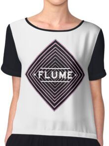 Flume psychedelic - white Chiffon Top