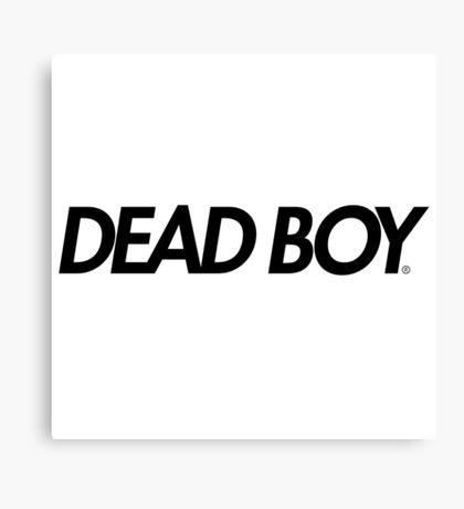 Dead Boy in Black (Bones TeamSesh Sesh) Canvas Print