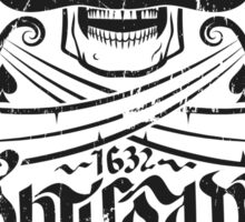 Tortuga pirates skull logo Sticker