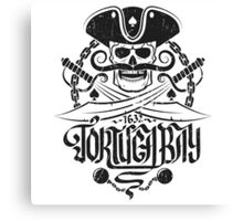 Tortuga pirates skull logo Canvas Print