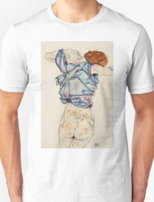 Egon Schiele - Woman Undressing. Schiele - woman portrait. Unisex T-Shirt