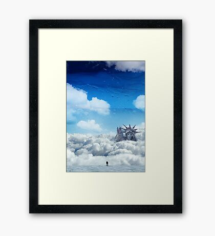 Above The Noise Framed Print