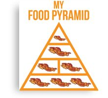 Bacon Food Pyramid Canvas Print