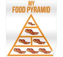 Bacon Food Pyramid Poster