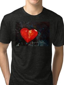 I Just Love You - Red Heart Romantic Art Tri-blend T-Shirt
