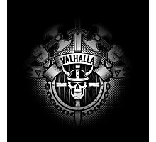 Valhalla skull logo Photographic Print