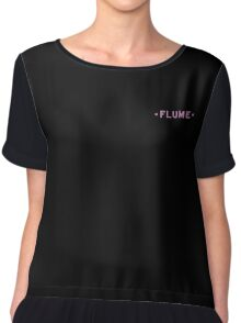 Flume -simple black Chiffon Top