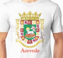Acevedo Shield of Puerto Rico Unisex T-Shirt