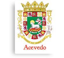 Acevedo Shield of Puerto Rico Canvas Print