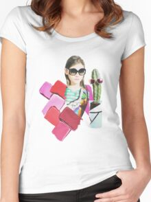 collage design  Women's Fitted Scoop T-Shirt