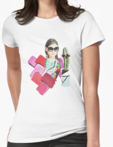 collage design  Womens Fitted T-Shirt