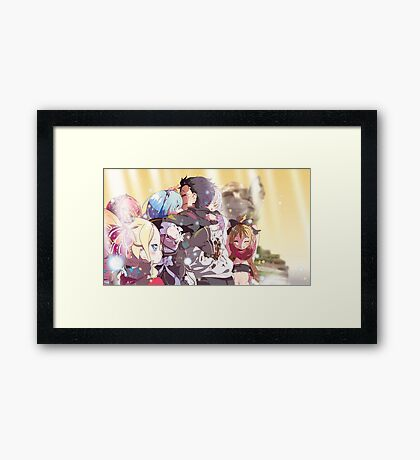 Anime: Re:Zero kara Hajimeru Isekai Seikatsu *tearing up* Framed Print