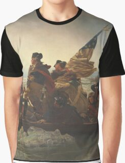 Emanuel Gottlieb Leutze - Washington Crossing The Delaware 1851. Gottlieb Leutze - man portrait. Graphic T-Shirt