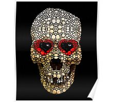 Skull Art - Day Of The Dead 3 Stone Rock'd Poster