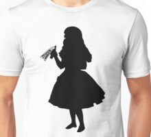 Alice In Wonderland - Alice Silhouette with Drink Me bottle Unisex T-Shirt