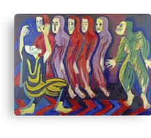 Ernst Ludwig Kirchner - Death Dance Of Mary Wigman.  Kirchner, portrait  dancer. Canvas Print