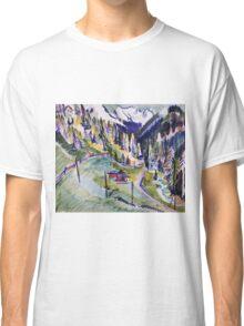 Ernst Ludwig Kirchner - Mountain Landscape.  Kirchner - mountains landscape. Classic T-Shirt