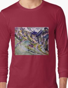 Ernst Ludwig Kirchner - Mountain Landscape.  Kirchner - mountains landscape. Long Sleeve T-Shirt