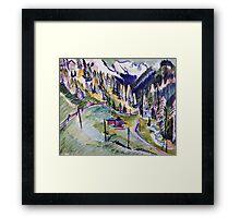 Ernst Ludwig Kirchner - Mountain Landscape.  Kirchner - mountains landscape. Framed Print