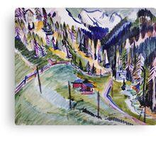 Ernst Ludwig Kirchner - Mountain Landscape.  Kirchner - mountains landscape. Canvas Print