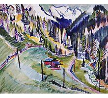 Ernst Ludwig Kirchner - Mountain Landscape.  Kirchner - mountains landscape. Photographic Print