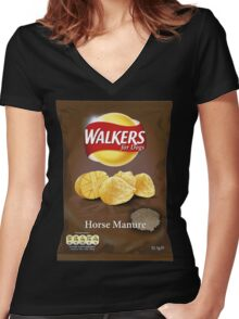 Walkers for Dogs - Horse Manure flavour Women's Fitted V-Neck T-Shirt