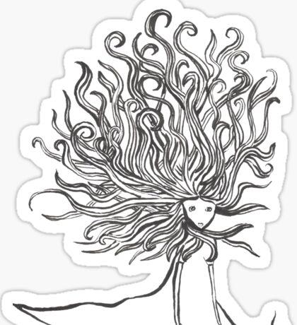Rapunzel let your hair up Sticker