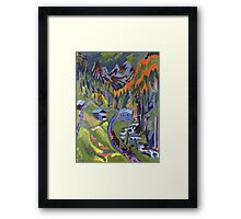 Ernst Ludwig Kirchner - Sertig Path In Summer.  Kirchner - mountains landscape. Framed Print