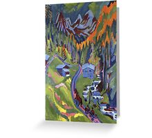 Ernst Ludwig Kirchner - Sertig Path In Summer.  Kirchner - mountains landscape. Greeting Card
