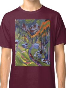 Ernst Ludwig Kirchner - Sertig Path In Summer.  Kirchner - mountains landscape. Classic T-Shirt