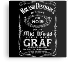 Roland Deschain's Mid-World Graf (White) Metal Print