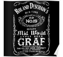 Roland Deschain's Mid-World Graf (White) Poster