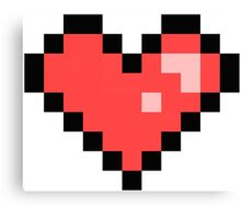 Pixel Heart Canvas Print