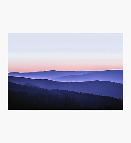 Stacked Sunset - Peak District Photographic Print