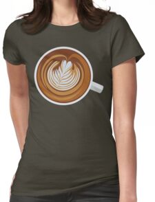 Cup-a-Cappuccino Womens Fitted T-Shirt