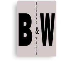 Bering & Wells minimalist text design Canvas Print