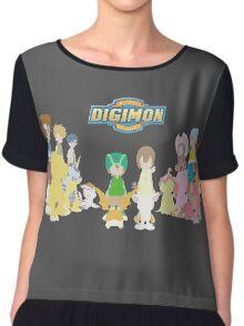 Digidestined prepared to fight (Digimon Adventure) Chiffon Top