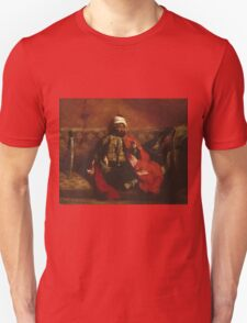 Eugene Delacroix  - A Turk Smoking Sitting On A Sofa.  Delacroix  - man portrait. Unisex T-Shirt