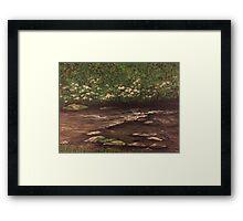 Lovely Mountain Laurel Landscape  Framed Print
