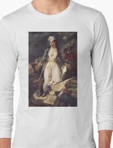 Eugene Delacroix  - Greece Expiring On The Ruins Of Missolonghi.  Delacroix  - woman portrait. Long Sleeve T-Shirt