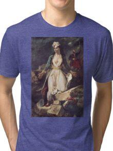 Eugene Delacroix  - Greece Expiring On The Ruins Of Missolonghi.  Delacroix  - woman portrait. Tri-blend T-Shirt