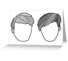 Dan and Phil Geometric Fringes Greeting Card
