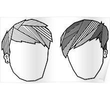 Dan and Phil Geometric Fringes Poster